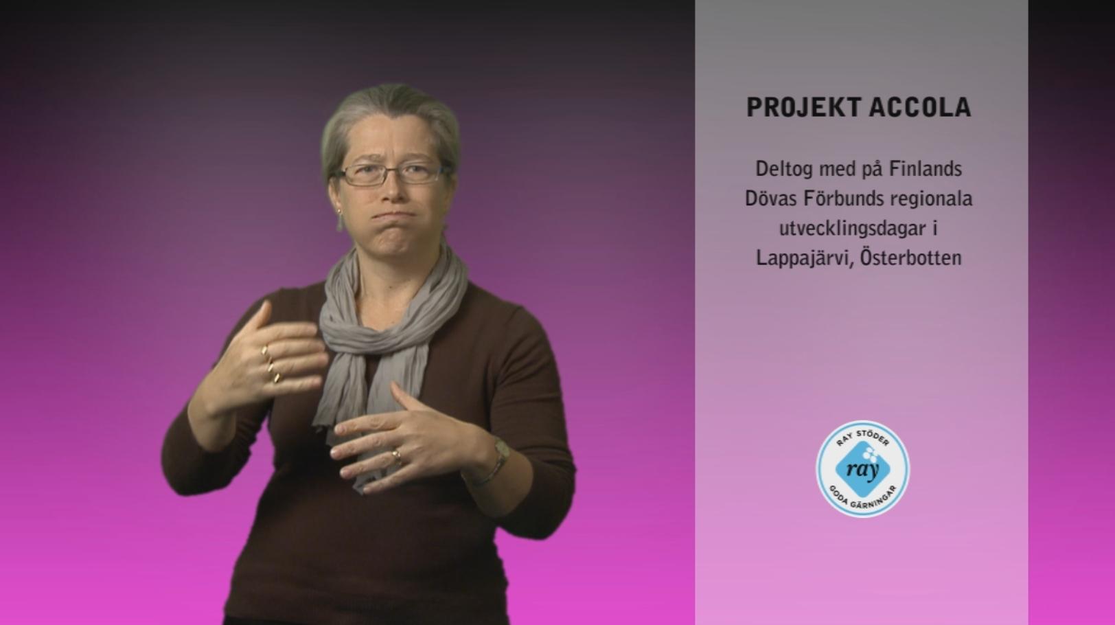 Accola projekt information – November