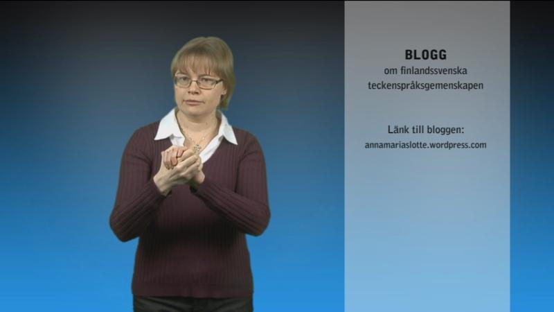 Blogg om finlandssvenska teckenspråksgemenskapen