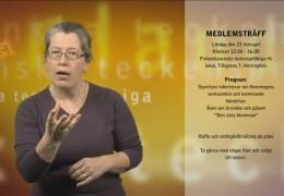 Medlemsträff och teckenspråksdagen