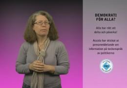 Projekt Accola – Pressmeddelande om demokrati