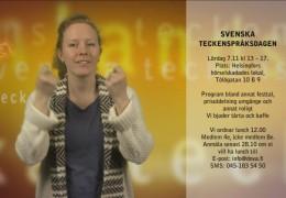 Svenska teckenspråksdagen 7.11