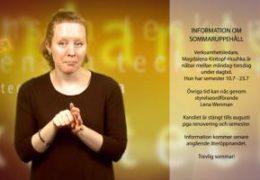 Information om sommaruppehåll - Magdalena Kintopf-Huuhka