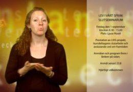 Lev i vårt språk - slutseminarium - Magdalena Kintopf-Huuhka