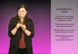 Handarbete och teater - Maja Andersson