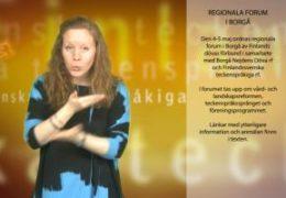 Regionala forum i Borgå - Magdalena Kintopf-Huuhka