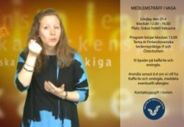 Österbotten – medlemsträff i Vasa 21.4 - Magdalena Kintopf-Huuhka
