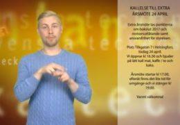 Kallelse till extra årsmöte - Robin Hänninen