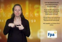 FPA information på finlandssvenskt teckenspråk - Magdalena Kintopf-Huuhka