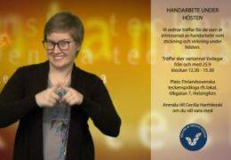 Handarbete under hösten - Cecilia Hanhikoski