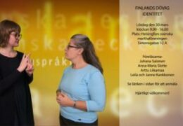 Finlandssvenska dövas identitet 30.3 - Elin Westerlund - Lena Wenman