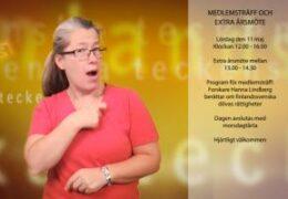 Medlemsträff 11.5 och extra årsmöte - Lena Wenman