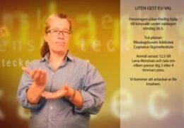Liten Gest EU-VAL - Lena Wenman