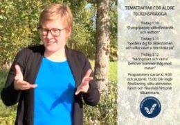 Tematräffar för äldre teckenspråkiga finlandssvenskar  - Cecilia Hanhikoski