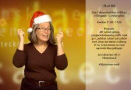 Finlandssvenska teckenspråkiga rf firar lilla jul fest