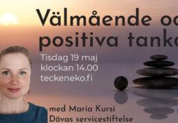 Virtuell tematräff 19.5 – Välmående och positiva tankar