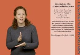 Delegation för teckenspråksärenden