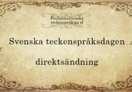 Svenska teckenspråksdagen 2020
